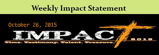 10.26 Weekly Impact Statement