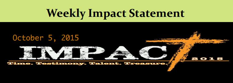 10.4 Weekly Impact Statement