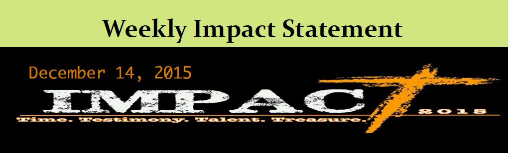 12.14 Weekly Impact Statement