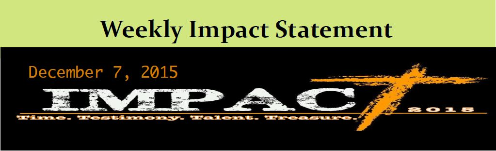 12.7 Weekly Impact Statement