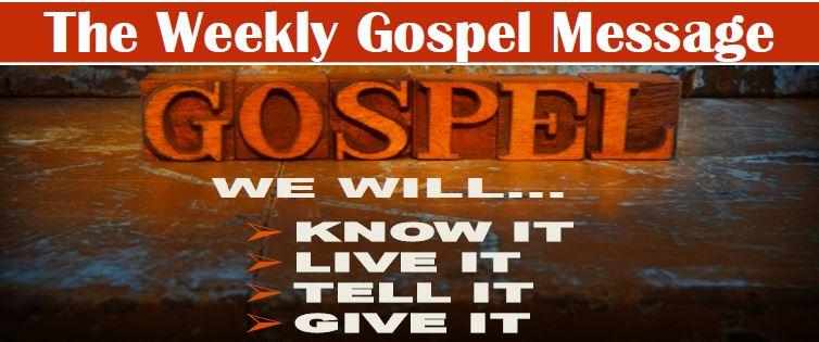 The Weekly Gospel Message Banner