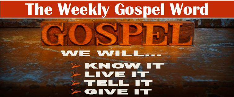 The Weekly Gospel Word Banner